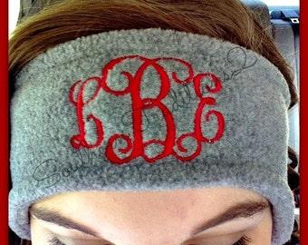 Monogram Fleece Headband - Monogrammed Fleece Headband - Ladies Fleece headband - #EtsyGift