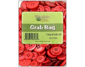 Buttons Galore Big Grab Bag Reds Bulk Button Mix Collection Christmas