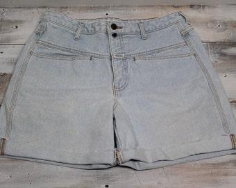 Vintage Girbaud Jean Shorts, High Waist Jean Shorts, Marithe Francois Girbaud