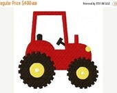 SALE Red Tractor Farm Machine Embroidery Design INSTANT DOWNLOAD