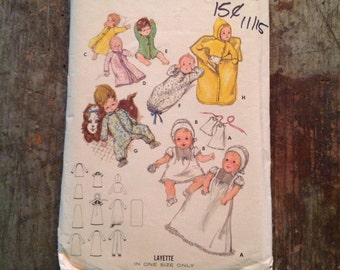 Vintage Butterick Sewing Pattern 5102 Layette in one size
