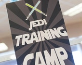 Star Wars Theme Printable Poster - Jedi Training Camp - Instant Download - Petite Party Studio