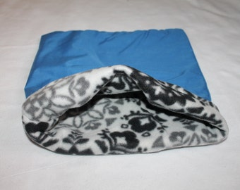 LARGE Blue Paisley  pouch for Guinea pigs, Chinchillas, Rats, Hedgehogs...
