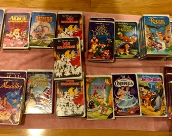 PRICE REDUCTION! Lot of 29 Disney Black Diamond Videotapes Including 6 Beauty and the Beast!