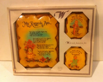 My Raggedy Ann Wooden Wall Plaques