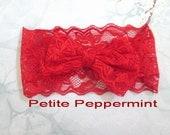 Red baby headband,baby lace headband,toddler headband,Baby head wrap, Baby Headband Bow, Red Baby Hair Bow, Bow Knot Headband