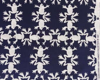 "Alexander Henry ""leap frog"" navy fabric 2007 FQ or more"