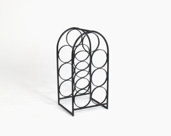 Vintage Arthur Umanoff Wrought Iron Wine Rack