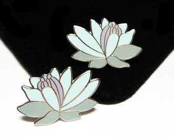 Laurel Burch Enamel Flower Stud Posts Earrings - Anthurium Tropical Flowers - ForPierced Earrings