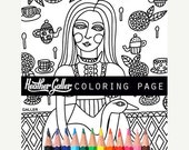 60% Off Today- Alice In Wonderland coloring, coloring book, adult coloring book, coloring pages, coloring book for adults, printable colorin
