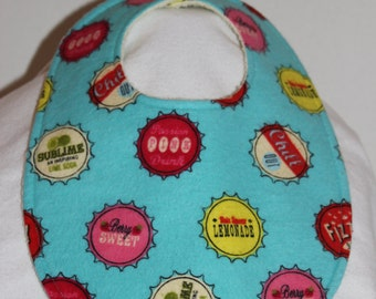 Pop Top Flannel / Terry Cloth Bib
