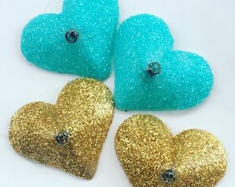 Heart Burlesque Pastie Glitter Tassel Bases