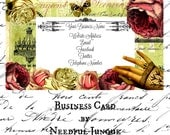 ViCToRiaN HaND BuSiNeSS CaRD