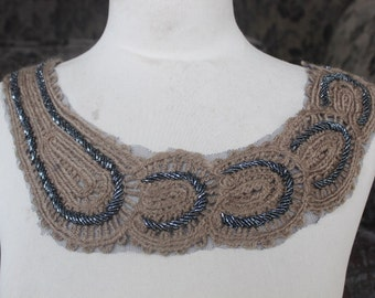 Cute embroidered   and beaded  applique