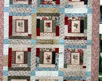 Vintage Christmas Postcards Quilt