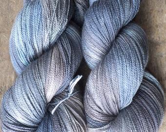 Cowboy Skies -  Hand Dyed Merino Silk Lace Yarn