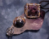 The Witches Pyramid - Amethyst and Kyanite Amulet