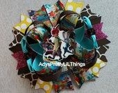 Zootopia Inspired Bow Judy Hopps Inspired Bow Bottle Cap Bows Girls Hair Bow Girls Boutique Bow Baby Hair Accessories B3