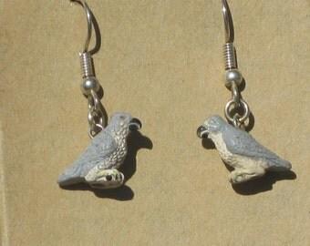 Peregrine Falcon Peru Bead Earrings