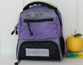 Lunchbox With Monogram Upcycled Pottery Barn -- Lavender Colton