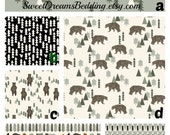 Custom Bedding Woodland Bear in Forest in Natural