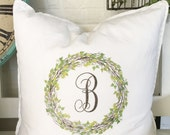 Personalized Monogram | Pillow Cover | Farmhouse Decor | Cottage Decor | Cottage Pillows