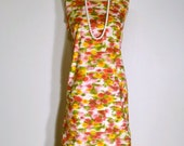 ON SALE Vintage 1960s Dress - 60s Shift Dress - Summer Floral