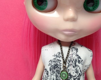 doll jewelry, doll necklace, Blythe necklace, Barbie necklace, handmade, brass jewelry, fruit