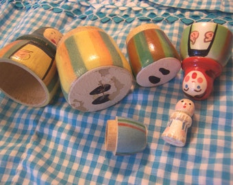 adorable painted nesting doll set