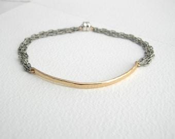 Hammered Bar Bracelet