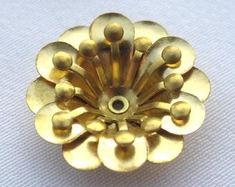 10pcs Golden Flower Brass Filigrees Loose Findings f100