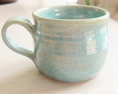 Mug Tea Cup  Coffee Cup Ceramic Pottery Chattered Pottery Kitchen Turquoise  Stoneware Mug Handmade Ceramic Coffee Cup Pottery Kitchenware