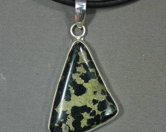 Turquoise and sterling Black Stallion pendant,  JS-pd-027