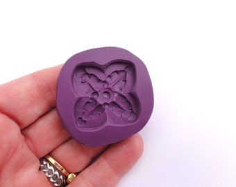 4 Leaf button embellishment mold designed and made by Marie Segal