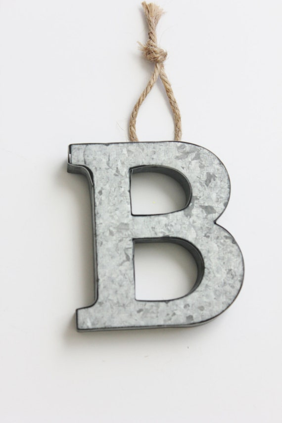 small metal letters 4 metal letter monogram ornament rustic twine jute small metal 24901