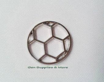 Soccer Floating Locket Plate, soccer plate, sports plate, floating locket plate