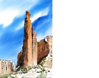 Spider Rock - Original Watercolor Painting