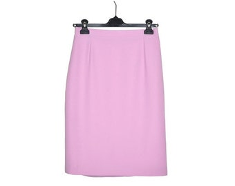 ON SALE Vintage New GERARD Pasquier Paris Pale Pink Skirt Size 10 France 40 Pastel Classic Fully Lined