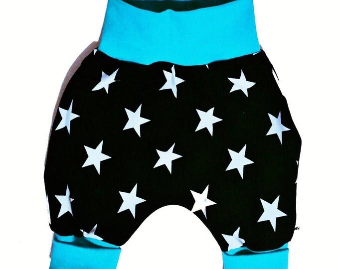 Baby kids toddler girl boy clothing harem pants baggy pants sweat pants turquoise. Size preemie - 3 y