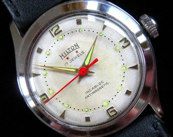 Hilton Swiss Watch - c.1950's - All Stainless Steel