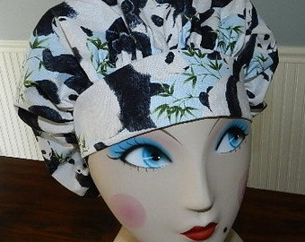 Panda's  Banded Bouffant Surgical Cap / Bakers Cap  Last one
