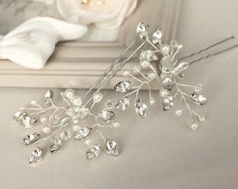 Bridal hair pins, wedding hair pins, bridal wedding accessories