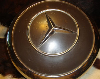 Vintage Classic Mercedes Hubcap Dark Brown Fits Most 1950's-70's GREAT WALL ART Repurpose