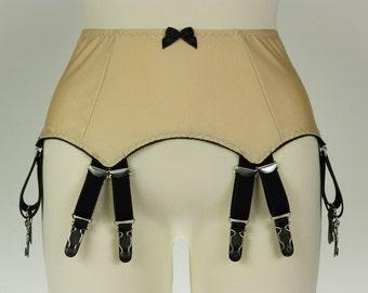 12 strap JOAN Suspender Belt Fetish Garter Belt in many colors Size S-4XL