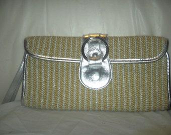 vintage lime clutch hand bag