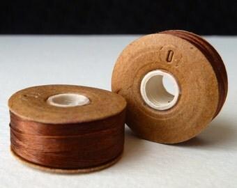 Thread Nymo Light Brown -  Size 0 - 115 yd bobbin - Strong Nylon Beading Thread
