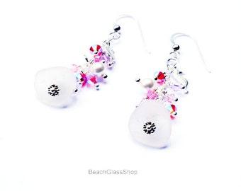 Sea Glass Earrings  - Lake Erie Earrings - Beach Earrings - Pierced Earrings - Lake Erie Beach Glass