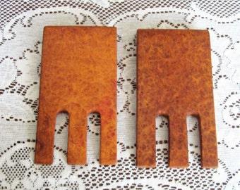 Amboyna Burl SALAD HANDS