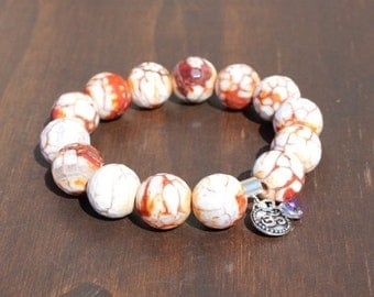Final Sale Agate and Om Energy Bracelet
