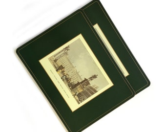 2 Vintage Pimpernel Irish Landmarks Placemats - Dublin Trinity College and Custom House